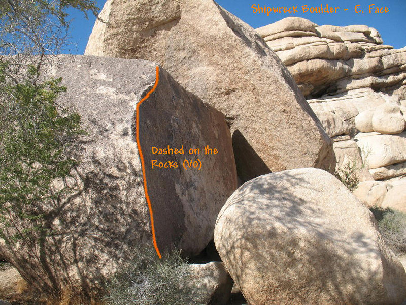 Rock Climbing Photo: Dashed on the Rocks (V0), JTNP.