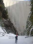 Rock Climbing Photo: The dam in its entirety.