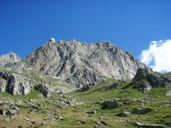 Rock Climbing Photo: The south face of the Chli Bielenhorn, taken from ...