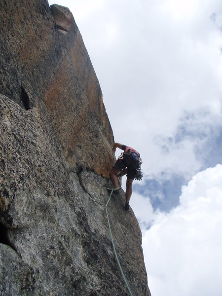 Rock Climbing Photo: Bill Flaherty early on in pitch four