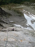 Rock Climbing Photo: Ossian B on one of the early pitches in the lower,...