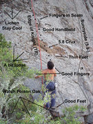 Rock Climbing Photo: Pic showing one of the adjacent TR routes. Klis ge...