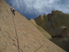Rock Climbing Photo: Maite Guardiola strolling up the 4th pitch of Endg...