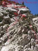 Rock Climbing Photo: Topo for Dana Plato Lives!