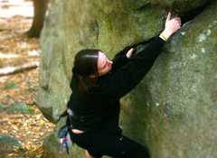 Rock Climbing Photo: My wife nicole warming up... What climb is this, a...