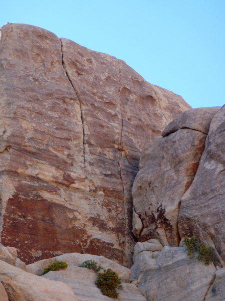 Rock Climbing Photo: The left crack is Mrs Paul's. The right is Frozen ...