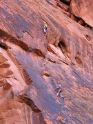 Rock Climbing Photo: The 2nd pitch has some airy moves moving through t...