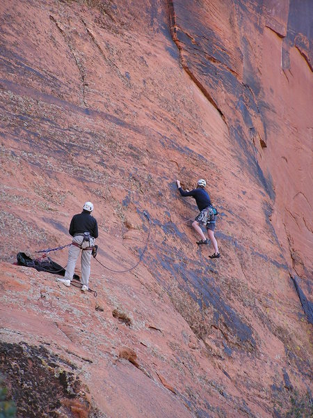 Rock Climbing Photo: There are some attention getting moves off the dec...