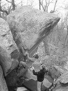 Rock Climbing Photo: Drew cranking