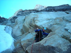 Rock Climbing Photo: starting up the N Howser Tower
