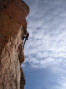 Rock Climbing Photo: I think I'm thru the crux here?