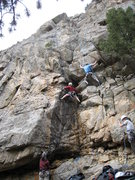 Rock Climbing Photo: Bruno Hache starting up Is It Ready Yet...Moe (lef...