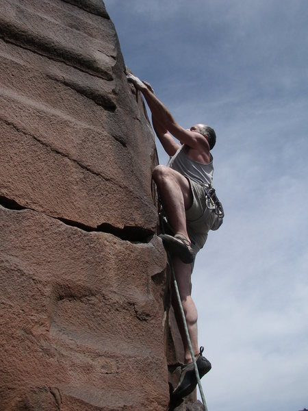Rock Climbing Photo: Bob D'Antonio FA Utopian Vistas