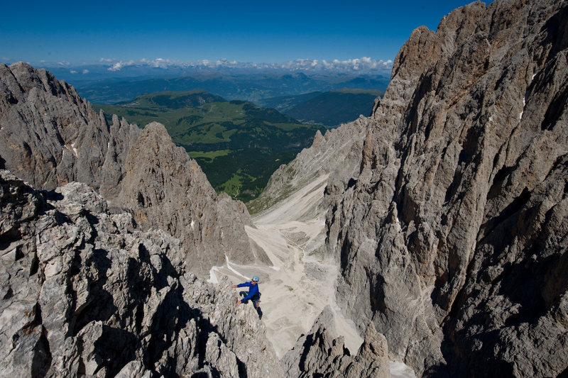 Sassalungo, Dolomites<br> photo: SImon Carter