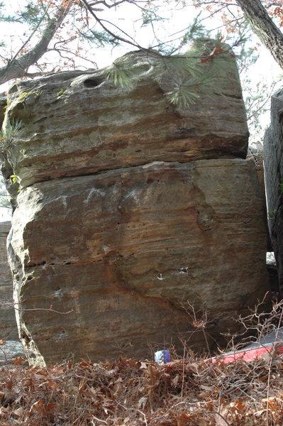 Rock Climbing Photo: Start on the pockets near the bottom left of the p...