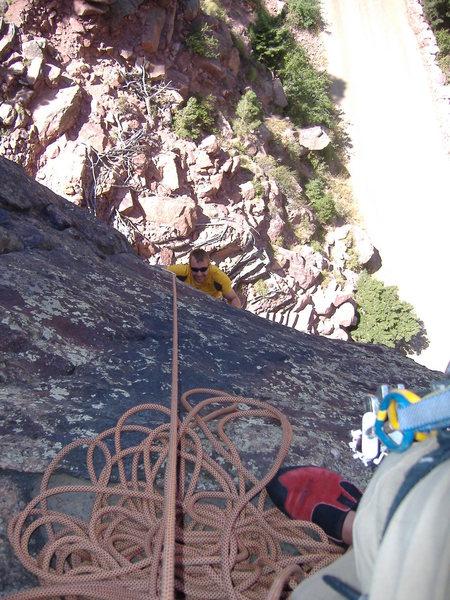 Rock Climbing Photo: JN on West Buttress, Eldo.