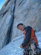 Rock Climbing Photo: Racking up below Central Pillar of Frenzy, Yosemit...