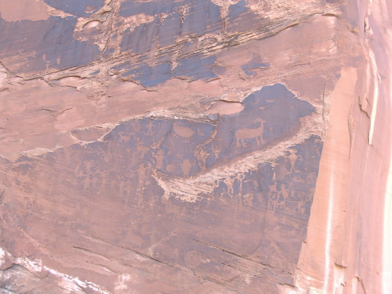 Cliff drawings near Moab.