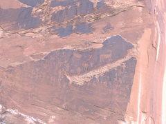 Rock Climbing Photo: Cliff drawings near Moab.