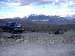 Rock Climbing Photo: Dirt-camping near Bishop.