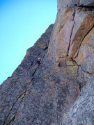 Rock Climbing Photo: Starting the excellent dihedral pitch, Casual Rout...
