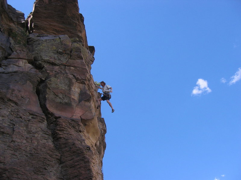 "Jay Foley first ascent ""Strike it Rich"" at Miner's."