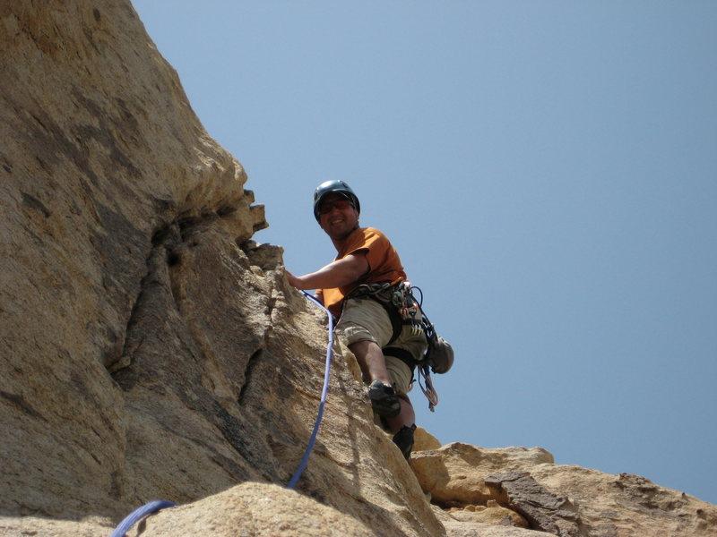 Rock Climbing Photo: Steve at the top of Toffuti.