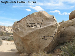 Rock Climbing Photo: Campfire Circle Boulder (N. Face), JTNP.
