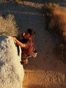 Rock Climbing Photo: Jeffy on the Turnbuckle Arete (V-easy), Joshua Tre...