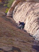 "Rock Climbing Photo: Myself leading the corner crack on ""Comeback ..."