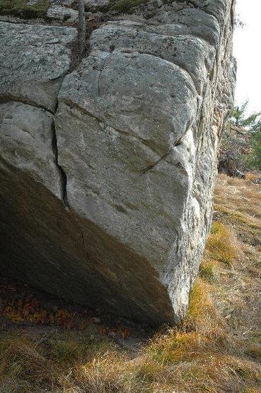 Climb the slopey bulge