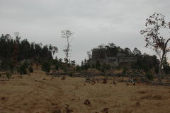 Rock Climbing Photo: Rattlesnake Mound from the raod.  House boulder on...