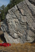 Rock Climbing Photo: Climb up the tall arete just out of the picture on...