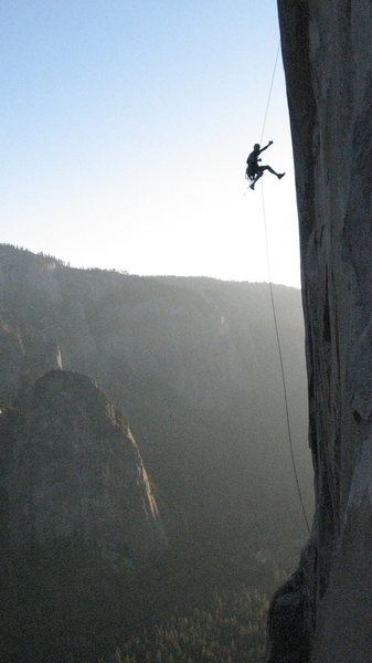 Rock Climbing Photo: Big Air on the Borderline Traverse, North America ...