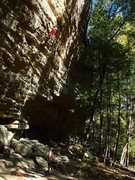 Rock Climbing Photo: Ben on Steelworker, Torrent Falls, Red River Gorge...