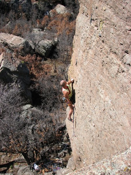 Rock Climbing Photo: The Megalomaniacal Potentate of F#&*ness on Batfac...