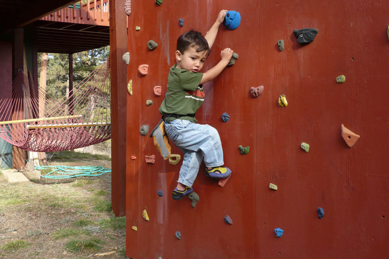 Rock Climbing Photo: This is his current high point.