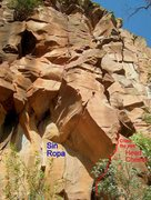 Rock Climbing Photo: Looking at the start and approximate line of Sin R...