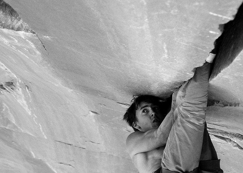 Rock Climbing Photo: Mason free forming at the cliffs.