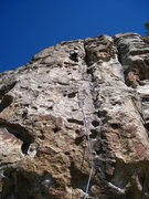 Rock Climbing Photo: Fun and featured climbing well above the crux and ...