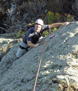 Rock Climbing Photo: Theron Moses works his way up the Oh My! arete to ...