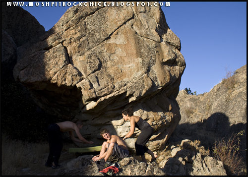 Rock Climbing Photo: Boulder just west of Gibraltar rock.
