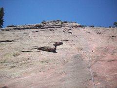 Rock Climbing Photo: Heading up the First Flatiron.