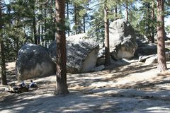 Rock Climbing Photo: The Daring Boulder (South Face) is the left most b...