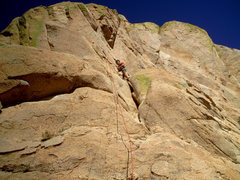 Rock Climbing Photo: before making the balance-y move onto the ledge, p...