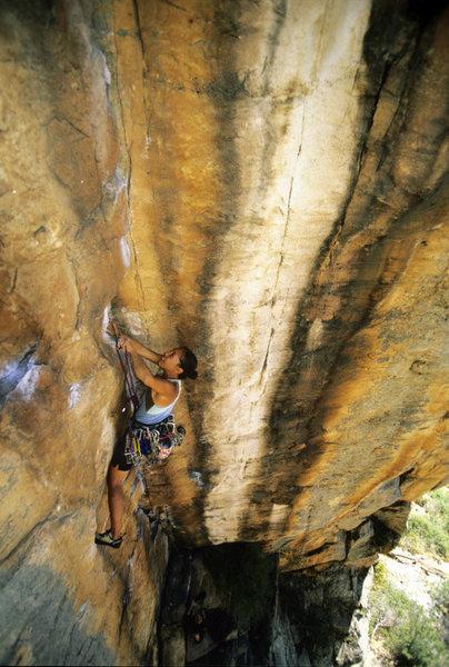 Dana ikeda on Tarantula, 19, Australia's Arapiles. © bennett barthelemy