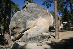 Rock Climbing Photo: Tulip Boulder West Face Topo