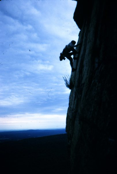 Rock Climbing Photo: CCK in the Gunks.  The photo, however, got flipped...