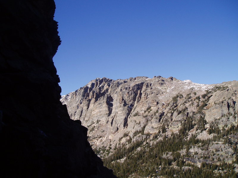 Rock Climbing Photo: Mt Otis across from a dark gully 10_27_08
