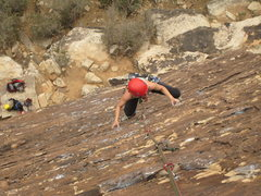 Rock Climbing Photo: The route offers really enjoyable edges for 100+ f...